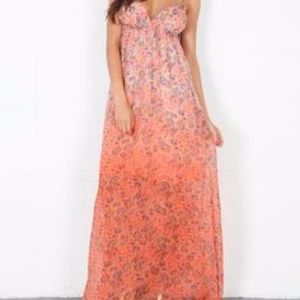 GYPSY 05 Cambridge Floral Print SILK Maxi Dress
